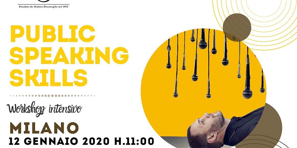 """Workshop intensivo """"PUBLIC SPEAKING SKILLS"""" con Max Antonelli"""