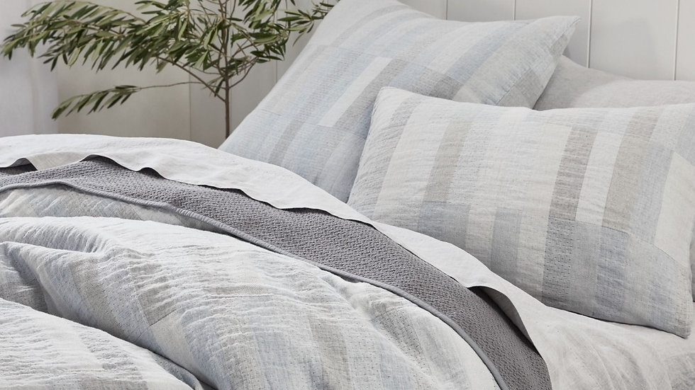 Anza Matelasse Organic Duvet Covers and Shams