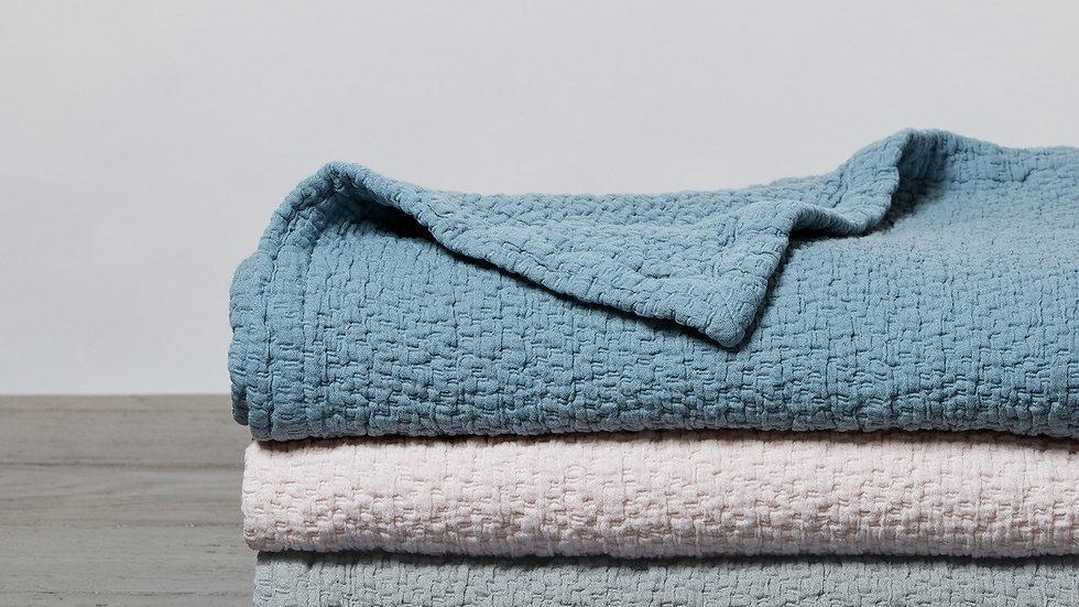 Wave Organic Matelasse Baby Blanket