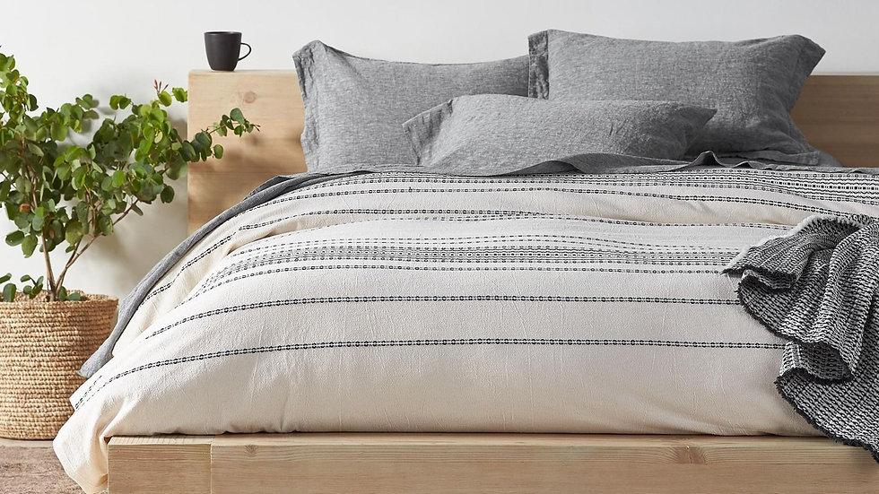 Organic Rippled Stripe Duvet Cover and Sham