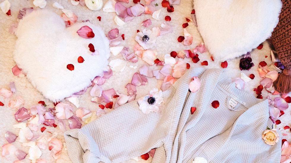 Happy Lamb Heart Pillow