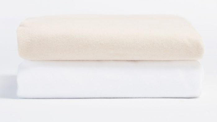 Cloud Brushed Organic Flannel Crib Sheet