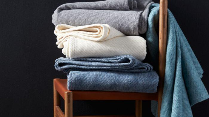 Sequoia Washable Organic Cotton & Wool Blanket and Throw