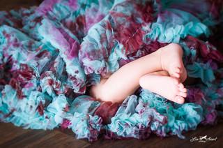 feet in a tutu
