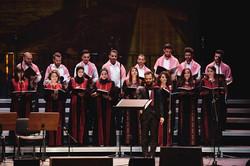 Rebal cunducting choir