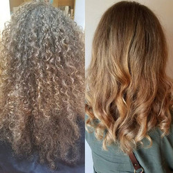 Hair cut, color, and style