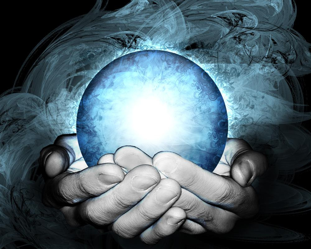 hands holding a mysterious orb