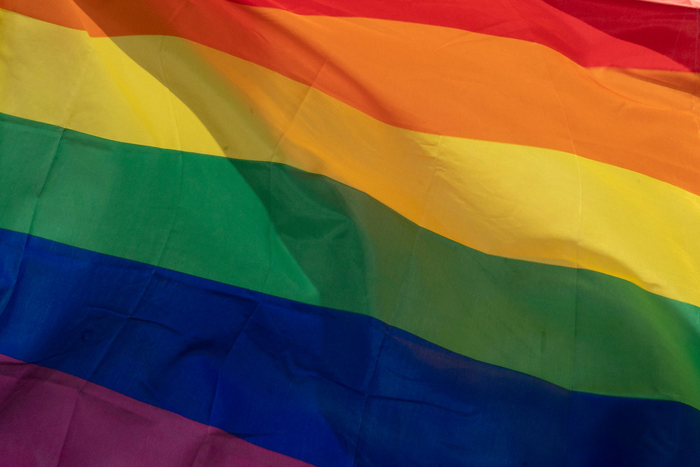 up-front pride rainbow flag