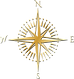 orbis střelka zlatá černá bez pozadi