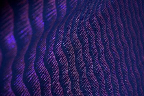 Tissu jacquard Vague ultra-violet