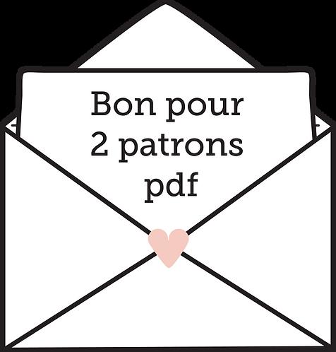 CARTE CADEAU 2 PATRONS PDF