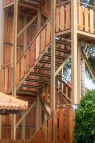 Zip Wire stairs in Sri Lanka