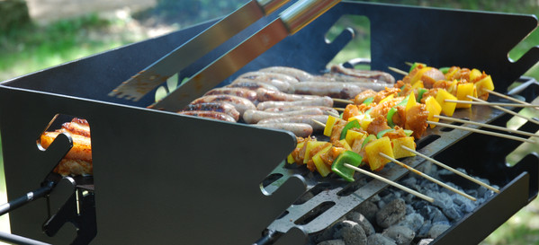 Park Style Grill in use