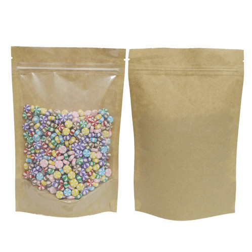 Craft Stand Up Ziplock Bag W Clear Front Are Multi Purpose Resealable Bags That Effective In The Storage And Protection Of Nonperishable Goods