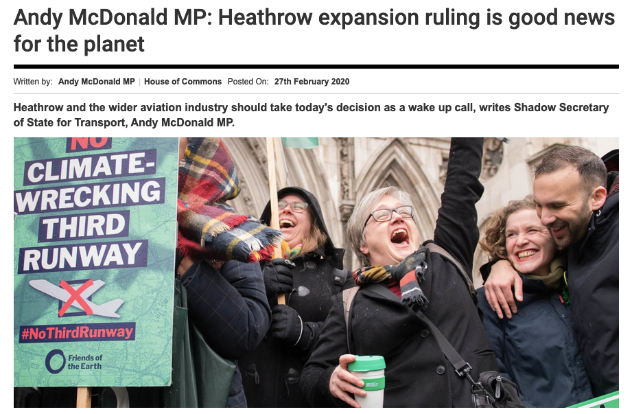 Andy McDonald - Politics Home