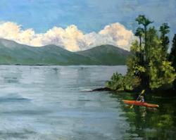 Red kayak