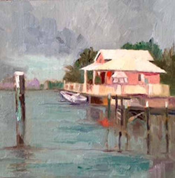 Pink House on Water