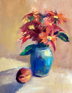 Flowers with Peach