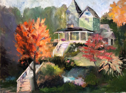 House with Orange Tree