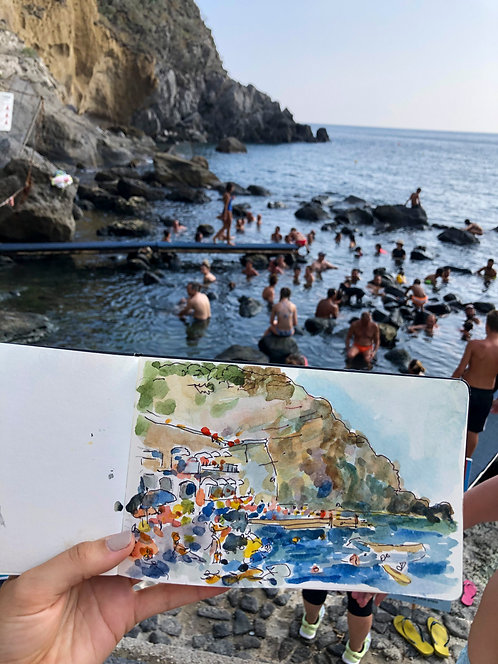 Baia di Sorgeto Ischia, Italy