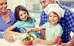 Family Cooking in support of World Diabetes Day
