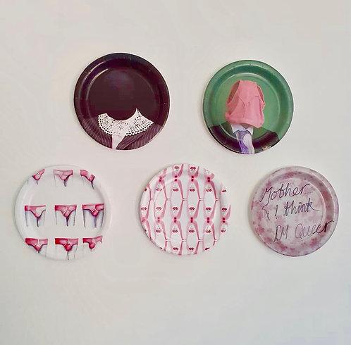 Wayne Lucas: Framed printed paper plates