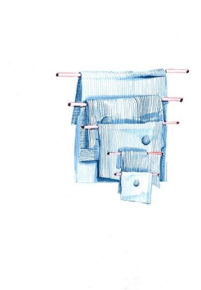 Suit templates - original watercolours