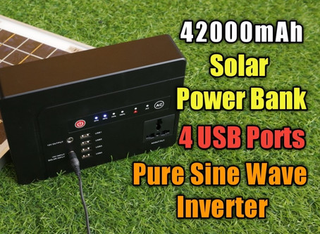 Lightest 42000 mAh Solar Powerbank with Pure Sine Wave Inverter