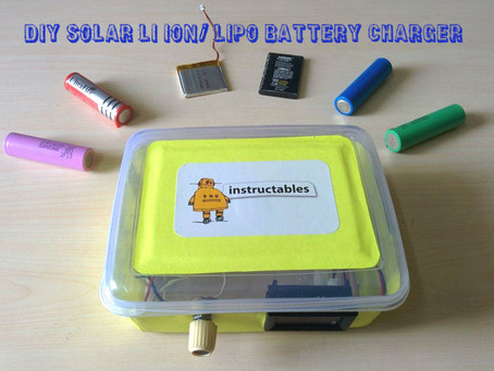 DIY SOLAR LI ION/ LIPO BATTERY CHARGER