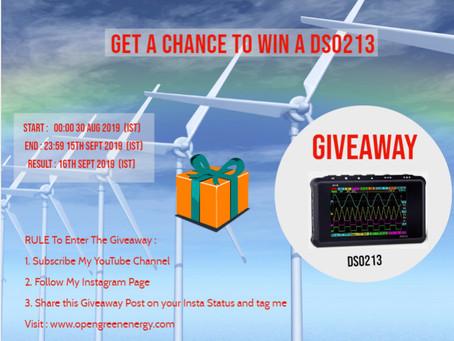Giveaway - DS213  Mini Oscilloscope