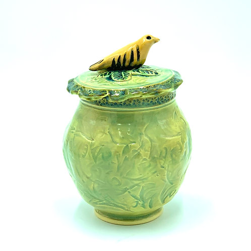 Bird Jar with Lid