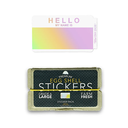 Hello My Name is Hologram Blanks - 50pcs