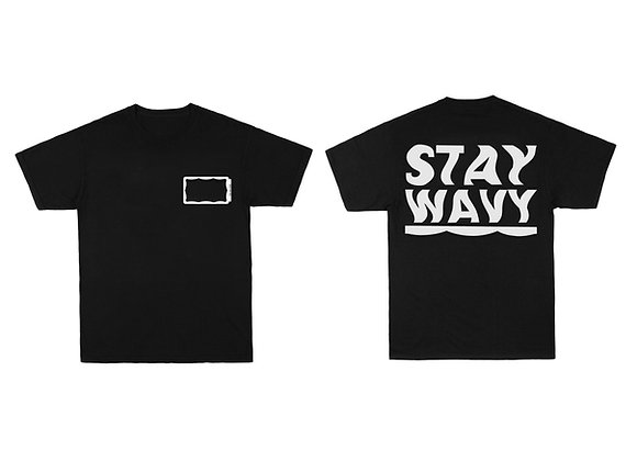 Stay Wavy Black T-shirt