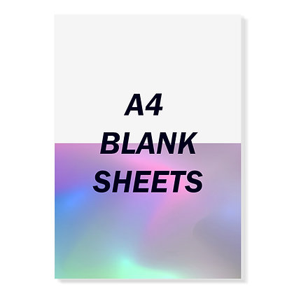 A4 Blank Egg Shell Sheets (White or Hologram) - 50pcs