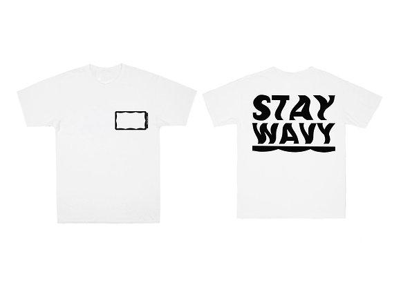 Stay Wavy White T-shirt