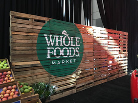 Event decor for Whole Foods Market