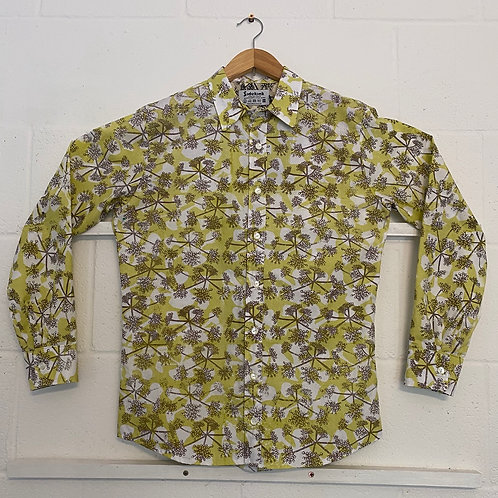 Yellow/grey cow parsley shirt