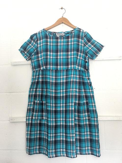 Blue checker weave dress size 12