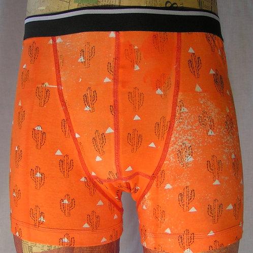 Bright orange cactus boxer shorts