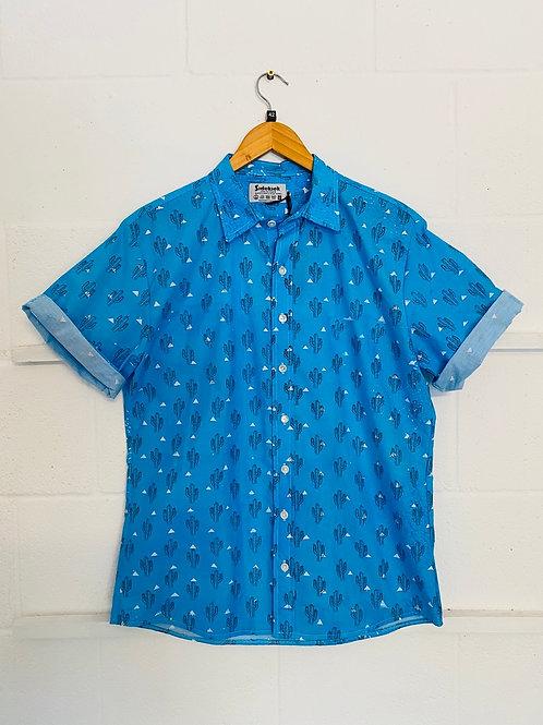Blue cactus shirt