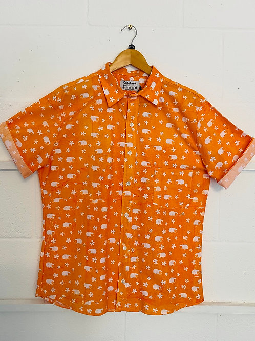 Orange hedgehog shirt