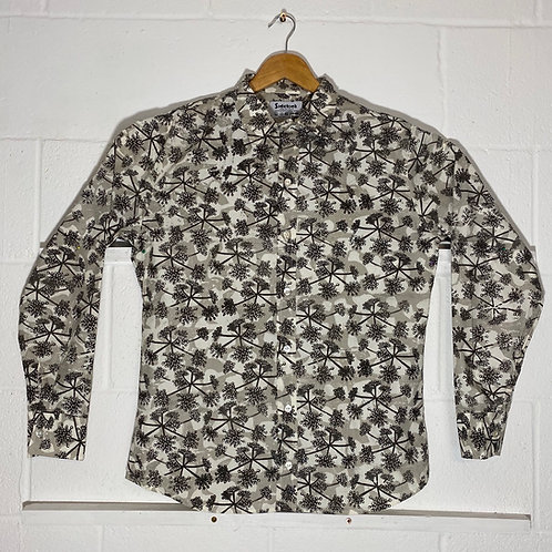 Grey cut-out cow parsley shirt