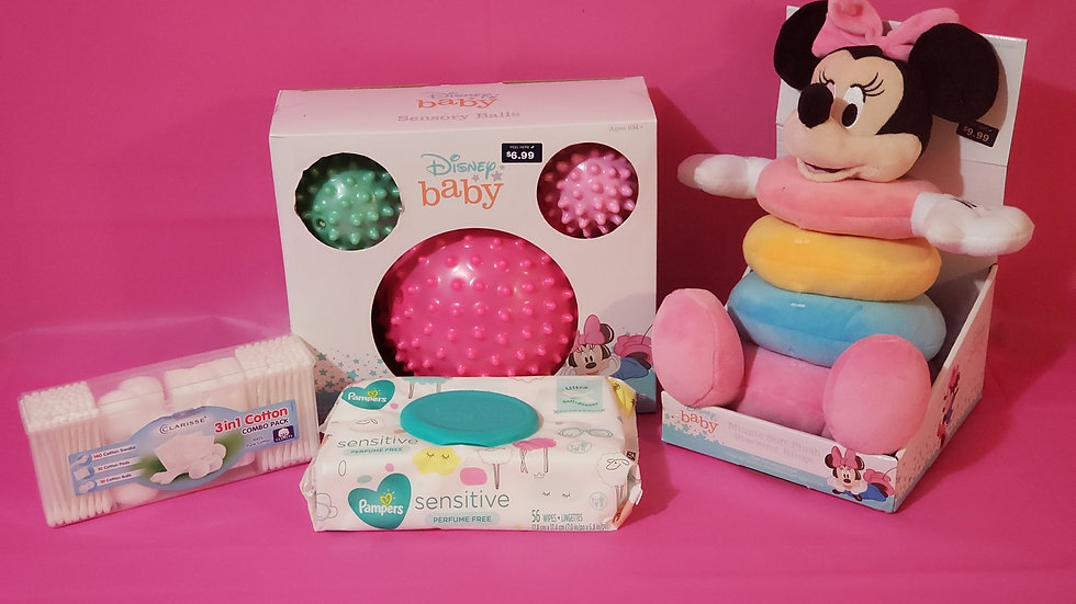 BABY MINNIE MOUSE BASKET