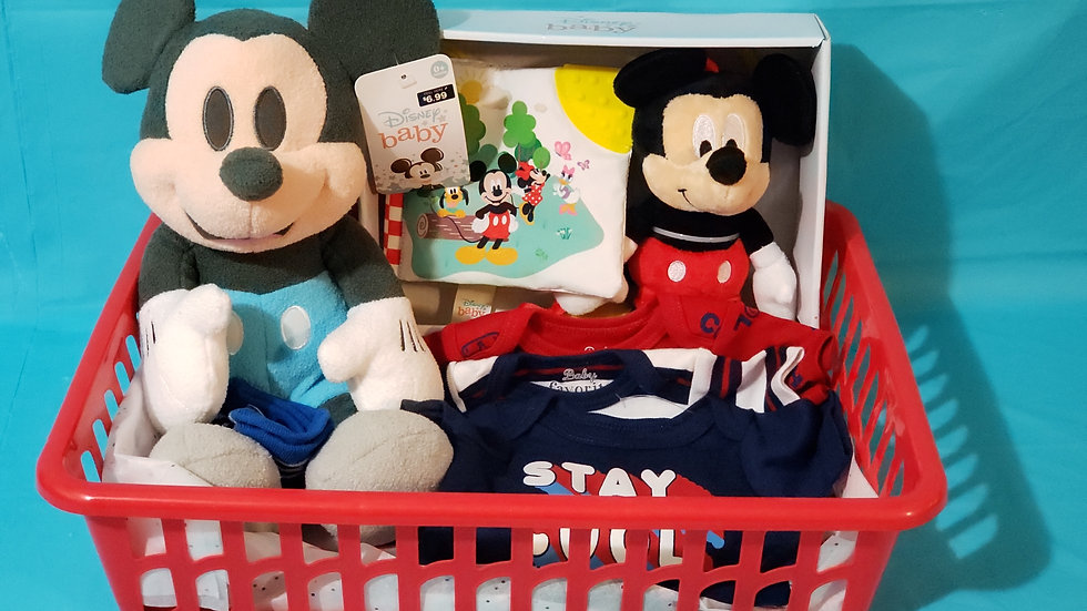 BABY MICKEY MOUSE BASKET