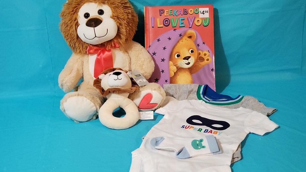 BABY LION BASKET