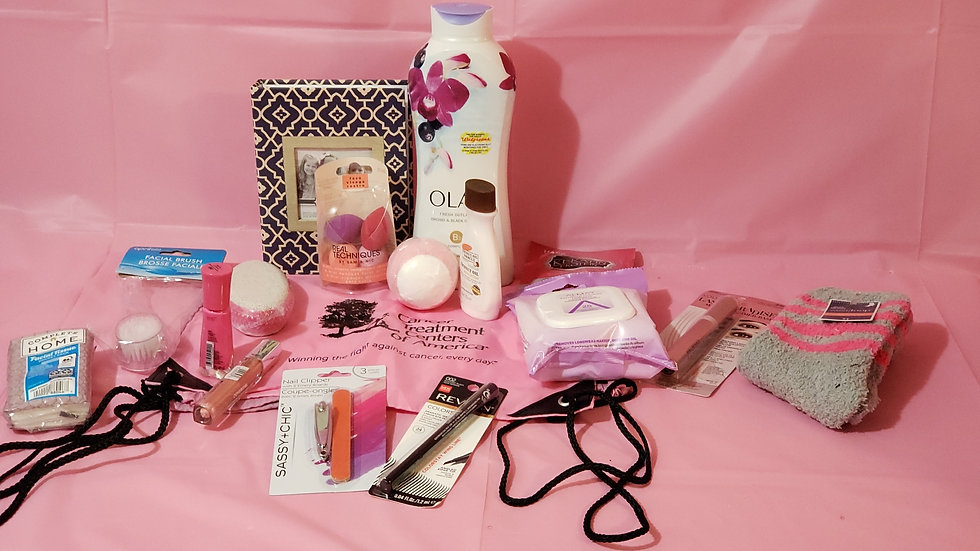 OLAY  ORCHID BREAST CANCER BASKET