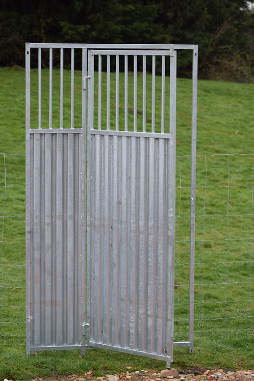 Galvanised 3/4 Solid Bottom Bar Gate