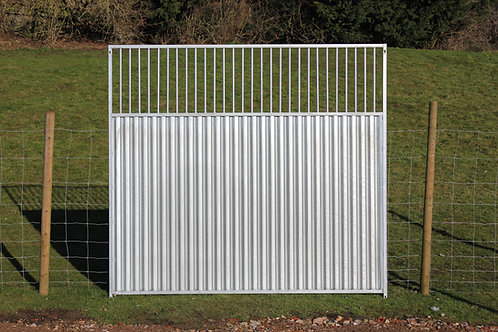 Galvanised 3/4 Solid Bottom Bar Panels
