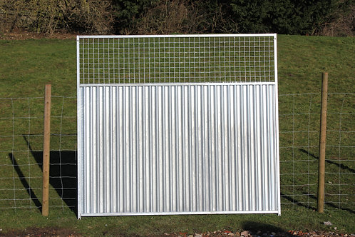 Galvanised 3/4 Solid Bottom Mesh Panel