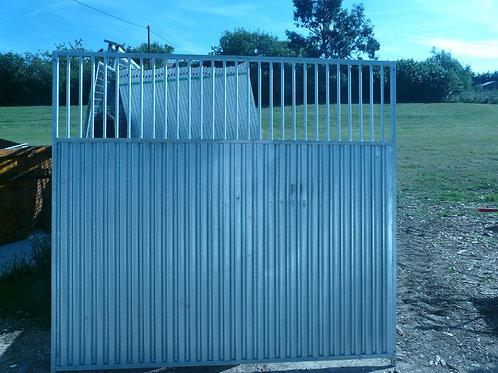 slightly damaged 2m 3/4 solid bar panel